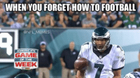Sam Bradford just pulled off his best Eli impersonation: WHEN YOU FORGET HOW TO FOOTBALL  @NFL MEMES  AMERICAS  GAME  OF THE  WEEK Sam Bradford just pulled off his best Eli impersonation