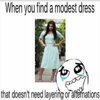 submission from @conservativebaptists!-@gmx0-BaptistMemes modesty modest: When you find a modest dress  that doesn't need ayeringoraftenations submission from @conservativebaptists!-@gmx0-BaptistMemes modesty modest