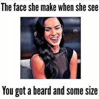 The face she make when she see  You got a beard and Some Slze Damn boy!-.-@doyoueven 💯✔️ 15% OFF STOREWIDE SALE (FLASH15 at the checkout!)