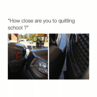 """Life, School, and Quite: """"How close are you to quitting  school?"""" life"""