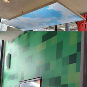 McDonalds, Minecraft, and Singapore: 9gs abler DaM  10m bns  SIGNATURE  COLECTION This McDonald's here in Singapore looks like its walls and lights are straight out of Minecraft