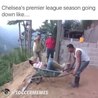 Tag a Chelsea supporter 😂😂😂: Chelsea's premier league season going  down like  QSOCCERMEMES Tag a Chelsea supporter 😂😂😂