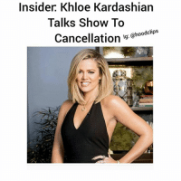 "Drinking, Funny, and Kardashians: Insider Khloe Kardashian  Talks Show To  Cancellation  lg: @hoodclips hoodclips: Khloe Kardashian's Talk Show Close To Cancellation-KhloeKardashian's late-night talk show ""Kocktails With Khloe"" is reportedly close to being axed after just one episode.-The show debuted on Wednesday (Jan. 20) with celebrity guests Brandi Glanville (RHOBH), Kym Whitley, Aisha Tyler (co-host of The Talk), Kendall Jenner, and Snoop Dogg.-According to Bossip, producers for the show are worried it might be cancelled because Khloe is struggling to find quality guests and the show hasn't attracted a widespread viewership.-An alleged insider from FYI, the network where the show airs, reportedly told Star magazine: ""Khloe is fighting a losing battle with this show. Between the lack of celebrity star power, dismal publicity and her not exactly being the greatest host, things aren't looking good. ""-Another source said: ""Even if she did scrounge up some quality guests, who wants to watch people sit around and drink? Everyone becomes sloppy and dysfunctional by the end of the show, leaving viewers to question why they turned it on in the first place. "" -Do you think Khloe's show will sink or swi"
