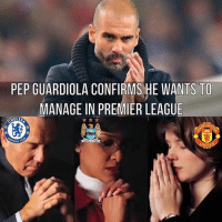 Where would you like to see Pep Guardiola in the EPL ? (@kicksleeprepeat ): PEP GUARDIOLA CONFIRMS HE WANTS TO  MANAGE IN PREMIER LEAGUE  HELSE Where would you like to see Pep Guardiola in the EPL ? (@kicksleeprepeat )