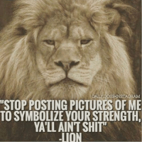 """The original savage.-.-@doyoueven 👈🏼💯: DAILY DOSE INSTAGRAM  """"STOPPOSTING PICTURES OF ME  TOSYMBOLIZE YOUR STRENGTH  YATLLAINTSHIT""""  -TION The original savage.-.-@doyoueven 👈🏼💯"""