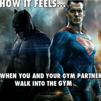 Let's smash it 💪🏻-.-@doyoueven 💯: WHEN YOU AND YOUR GYM PARTNER  WALKINTO THE GYM Let's smash it 💪🏻-.-@doyoueven 💯