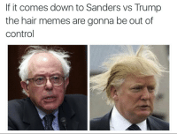 Just like their hair: @tank.sinatra  If it comes down to Sanders vs Trump the hair memes are gonna be out of control Just like their hair