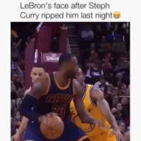 😂😂😂: @daquan  LeBron's face after Steph Curry ripped him last nights 😂😂😂