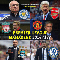 Only Mourinho To Go!👌-Double Tap! | Tag Friends | - - -Great Page >> -  @instafootballmemes: InstaFootballMemes  IamSoccer Memes  LESTER  Arsenal  BAW  LIVERPOOL  BALL  PREMIER LEAGUE  MANAGERS 2016/17?  AELSE  MCFC.  oor BALL Only Mourinho To Go!👌-Double Tap! | Tag Friends | - - -Great Page >> -  @instafootballmemes