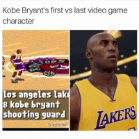 """Kobe Bryant's first vs last Video game Character 😢 😮"