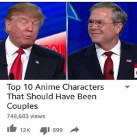 Hahahaha I love these: Top 10 Anime Characters That Should Have Been Couples Hahahaha I love these
