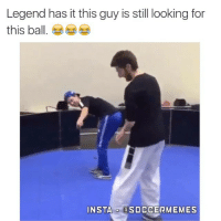 How bizarre how bizarre .... Where'd the ball go? : Legend has it this guy is still looking for  this ball  INSTA  a SOCCER MEMES How bizarre how bizarre .... Where'd the ball go?