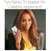 "TyraBanks, who just welcomed a new child via a surrogate, will be back on television in no time. The former ""America's Next Top Model"" host will be appearing on ""Celebrity Apprentice,"" replacing Ivanka Trump. ArnoldSchwarzenegger will reportedly be replacing Donald when the show returns for its 2016-2017 season. According to NBC President, RichardGreenblatt, Donald Trump will ""absolutely not"" be returning to ""Apprentice"" - ever. -As far as Tyra, the new gig couldn't have come at a better time. Just weeks after the cancellation of FABLife, and months after ""Top Model"" announced that it has called it quits, Tyra has wasted no time getting back in the limelight.tyrabanks celebrityapprentice: Tyra Banks ToAppear On  Celebrity Apprenticel TyraBanks, who just welcomed a new child via a surrogate, will be back on television in no time. The former ""America's Next Top Model"" host will be appearing on ""Celebrity Apprentice,"" replacing Ivanka Trump. ArnoldSchwarzenegger will reportedly be replacing Donald when the show returns for its 2016-2017 season. According to NBC President, RichardGreenblatt, Donald Trump will ""absolutely not"" be returning to ""Apprentice"" - ever. -As far as Tyra, the new gig couldn't have come at a better time. Just weeks after the cancellation of FABLife, and months after ""Top Model"" announced that it has called it quits, Tyra has wasted no time getting back in the limelight.tyrabanks celebrityapprentice"