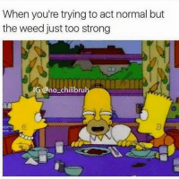 Lmao @no_chill_humor: When you're trying to act normal but the Weed just too strong Lmao @no_chill_humor