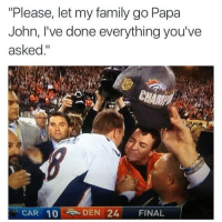 """""""Please, let my family go Papa John, I've done everything you've asked."""" Lmao"""