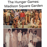 Funny, The Hunger Games, and Game: The Hunger Games:  Madison Square Garden YeezySeason3 (@Joy___A)