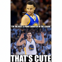 😂😂 nbamemes nbaallstars: I'm the best 3-point shooter in the league  That's cute 😂😂 nbamemes nbaallstars