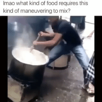 Lmaoooo cooking some goodshit 😂-HOODCLIPS tagafriend: Imao what kind of food requires this  kind of maneuvering to mix? Lmaoooo cooking some goodshit 😂-HOODCLIPS tagafriend
