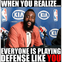 😂nbaallstar nbamemes: When you realize ... everyone is playing defense like you 😂nbaallstar nbamemes