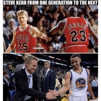 🙌💯 Happy Birthday Stephen Curry! nbamemes warriors bulls: STEVE KERR FROM ONE GENERATION TOTHE NEXT  @NBAMEMES  EN  30  ARRI 🙌💯 Happy Birthday Stephen Curry! nbamemes warriors bulls