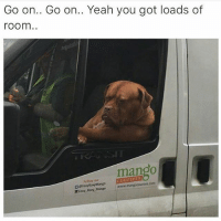 Laughing far too much at this 😂😂: Go on.. Go on.. Yeah you got loads of  room  mango  Foxy Roxy Mango www.mangocouriers com Laughing far too much at this 😂😂