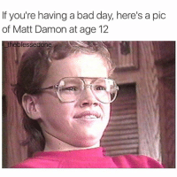 There's still hope for me.: If you're having a bad day, here's a pic  of Matt Damon at age 12  the blessedone There's still hope for me.