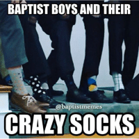 TAG THAT GUY WHO DOES THIS-BaptistGuysBeLike CrazyChurchSocks SockGameStrong-@gmx0-BaptistMemes-Picture Creds: @neekyredhead-Honestly, I just wear black socks so: BAPTIST BOYS AND THEIR  @baptistmemes  CRAZY SOCKS TAG THAT GUY WHO DOES THIS-BaptistGuysBeLike CrazyChurchSocks SockGameStrong-@gmx0-BaptistMemes-Picture Creds: @neekyredhead-Honestly, I just wear black socks so
