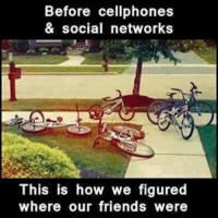 Before technology took over: Before cellphones  & social networks  This is how we figured  where our friends were Before technology took over