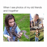 snake bitches: When see photos of my old friends  and together snake bitches