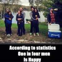 According to StatistICS  One in four men  Is Happy Stay Single, Be Happy 😝😝-TAG all your buddies 😂😂😂- @ommy_007 ✌🏻️