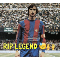 Instagram, Soccer, and Sports: MOF  NA  IAMSOCCERMEMES  INSTAGRAM.  DE LA  I... RL CRUYFF Breaking: Former Netherlands Forward and 3-Time Ballon d'Or Winner Johan Cruyff Dies at 68 Following Battle with Cancer