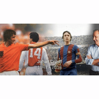 Family, Friends, and Soccer: Banco  Johan Cruyff  1947 2016 Johan Cruyff has died aged 68. Thoughts with his family and friends. RIP! LEGEND ❤️