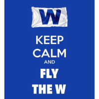 CUBS WIN! CUBS WIN!: KEEP  CALM  AND  FLY  THE W CUBS WIN! CUBS WIN!