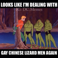 😂Boi: LOOKS LIKE I'M DEALING WITH  G: DC.Memes  GAY CHINESE LIZARD MEN AGAIN 😂Boi