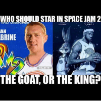 ???: WHO SHOULD STAR IN SPACE JAM 2  BUGS  LEBRON  BUNNY  AMES  AN  BRINE  ONBAMEMES  THE GOAT OR THE KING ???