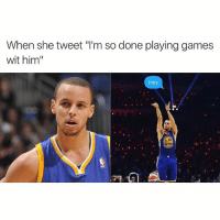 """Never be afraid to shoot your shot.: When she tweet """"l'm so done playinggames  wit him  Hey Never be afraid to shoot your shot."""