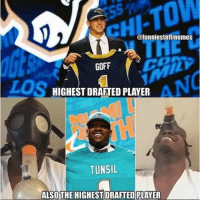 Lmao sportsmemes memes nfl nfldraft football: ofunniestnflmemes  GOFF  HIGHESTDRAFTEDPLAYER  TUNSIL  ALSO THE HIGHESTDRAFTEDIPLAYER Lmao sportsmemes memes nfl nfldraft football