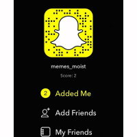 Add me. Or don't. I don't really care: memes moist  Score: 2  Added Me  Add Friends  My Friends Add me. Or don't. I don't really care