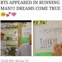 FINALLY :^D: BTS APPEARED IN RUNNING  MAN DREAMS COME TRUE  10:55 PM 06 Apr 16 FINALLY :^D