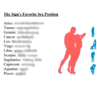 Favorite sex position of a libra