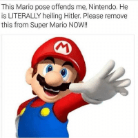 This Mario pose offends me, Nintendo. He  is LITERALLY heiling Hitler. Please remove  this from Super Mario NOW!! triggered  dankmemes autism cringe meme memes autistic nicememe lmao autismspeaks kek lmfao immortalmemes filthyfrank 4chan ayylmao weeaboo anime vaporwave bushdid911 fnaf  jetfuelcantmeltsteelbeams johncena papafranku edgy mlg tumblr furry triggered genderfluid cancer
