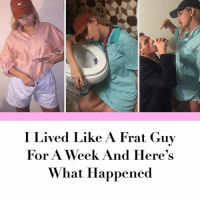 Link in bio.: I Lived Like A Frat Guy  For A Week And Here's  What Happened Link in bio.