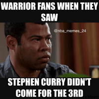 Curry sprained his knee at the end of the second quarter, and he didn't come back for the rest of the game, Curry will have an MRI in Oakland. nbamemes nba_memes_24: WARRIOR FANS WHEN THEY  SAW  nba memes 24  STEPHEN CURRY DIDN'T  COME FOR THE 3RD Curry sprained his knee at the end of the second quarter, and he didn't come back for the rest of the game, Curry will have an MRI in Oakland. nbamemes nba_memes_24