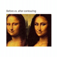 Before vs. after contouring cute