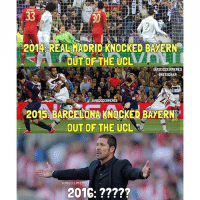 Will They Do It... 👌🏼😏 Double Tap & Tag A Friend-: 33  2014 REAL MADRID KNOCKED BAYERN  OUT OF THE UCLA  IAMSOCCERMEMES  INSTAGRAM.  LIAMSOCCERMEMES  2015 BARCELONA KNOCKED BAYERN  OUT OF THE UCL  IAMSOCCERMEMES  2016: Will They Do It... 👌🏼😏 Double Tap & Tag A Friend-
