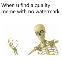 quality: When u find a quality  meme with no watermark