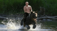 In America we have right to bear arms In Russia they have right to whole bear