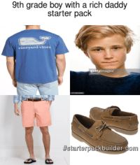 white high school boy with a rich daddy starter pack: 9th grade boy with a rich daddy  starter pack  vineyard vines  images  getty tartar  builder  Om white high school boy with a rich daddy starter pack