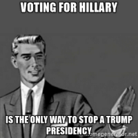 Titles don't matter very much: VOTING FOR HILLARY  IS THE ONLY WAY TO STOP A TRUMP  PRESIDENCY  megener  r.net Titles don't matter very much