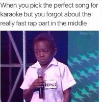 When you pick the perfect song for  karaoke but you forgot about the  really fast rap part in the middle  adab moms Bone Thugs 💀 RP (@iamsloanesteel via @dabmoms )